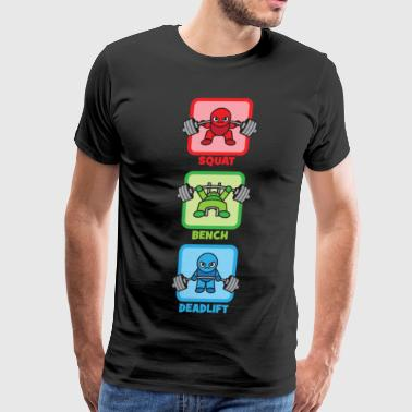 Kawaii Powerlifter - Squat, Bench Press, Deadlift - Men's Premium T-Shirt