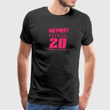 Birthday Girl 20 years old - Men's Premium T-Shirt