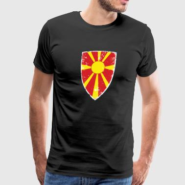 Flag of Macedonia - Men's Premium T-Shirt