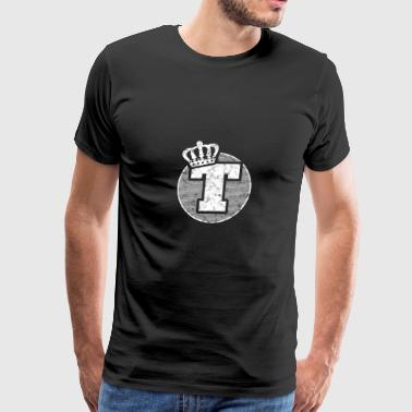 Letter T - ABC - Capital Letter - Prename Name - Men's Premium T-Shirt