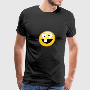 goofy face - Men's Premium T-Shirt