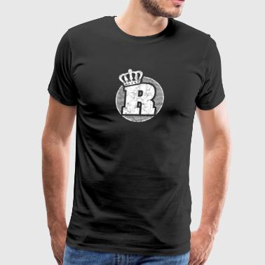 Name: Letter R Character Case Alphabetical Crown - Men's Premium T-Shirt