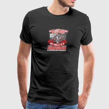 Firefighter Uncle Support Proud Family - Men's Premium T-Shirt
