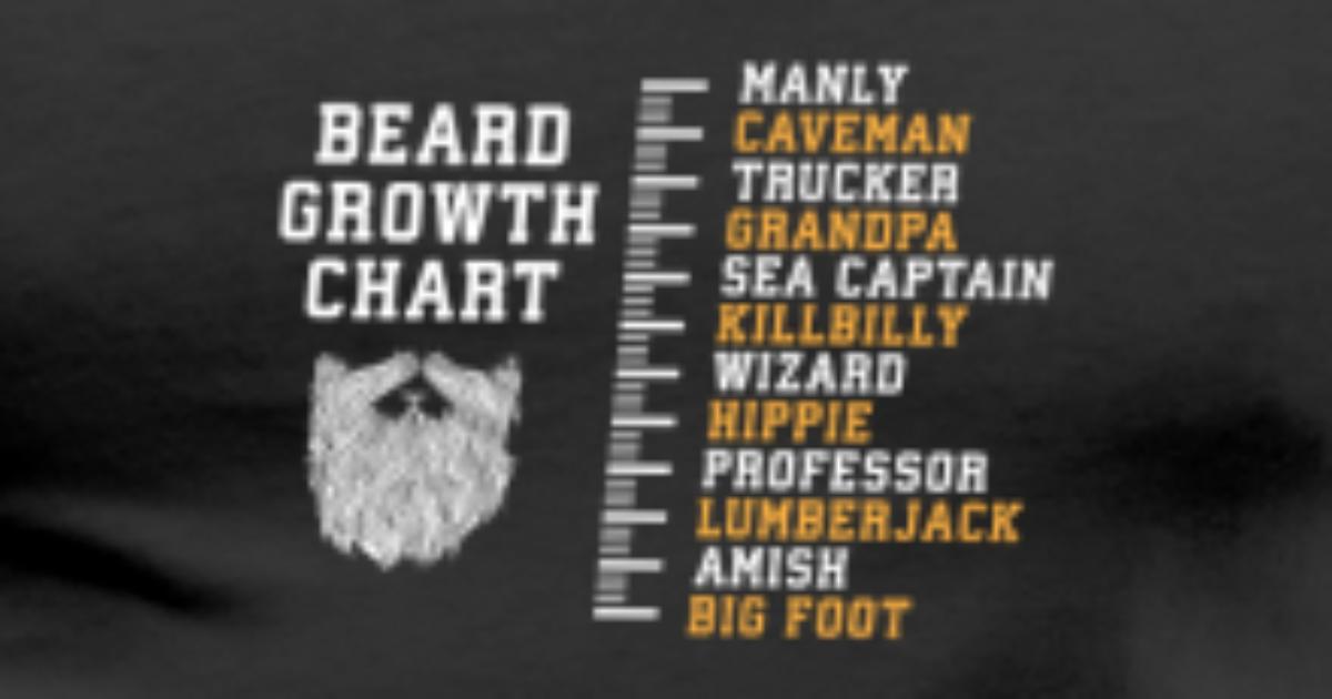 Giftbeard Growth Chart Manly Caveman Trucker By Ebenblatt Spreadshirt