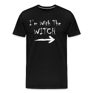 Iu0027m With the Witch - Funny Halloween Costume - Menu0027s Premium T-Shirt  sc 1 st  Spreadshirt & Iu0027m With the Witch - Funny Halloween Costume by ZaloTees | Spreadshirt