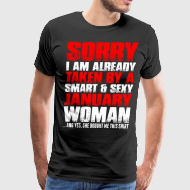 Smart And Sexy January Woman - Men's Premium T-Shirt