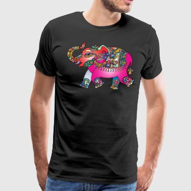Colorful elephant - Men's Premium T-Shirt