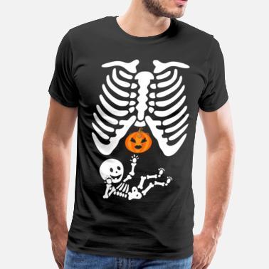 1a6f9fb2 Pregnant Halloween Skeleton Twins Boys Costumes Ts - Men's Premium T-Shirt