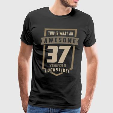 37 Years Awesome 37 Years Old - Men's Premium T-Shirt