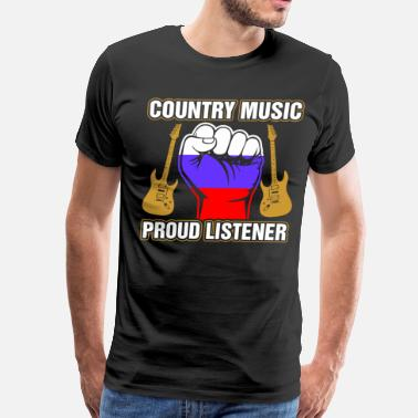 Russian Baby Russian Country Music Proud lIstner - Men's Premium T-Shirt
