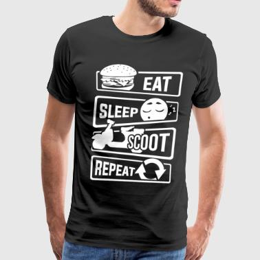 Eat Sleep Scoot Repeat - Scooter Cruise Italy - Men's Premium T-Shirt