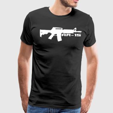 AR-15 Gun Black T-Shirt - Men's Premium T-Shirt