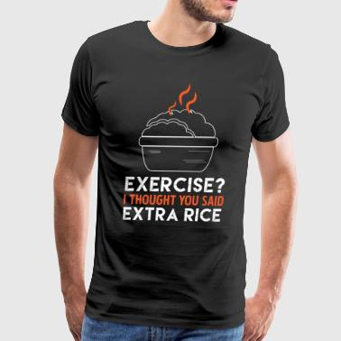 Food Fitness Rice Tshirt Gift - Men's Premium T-Shirt