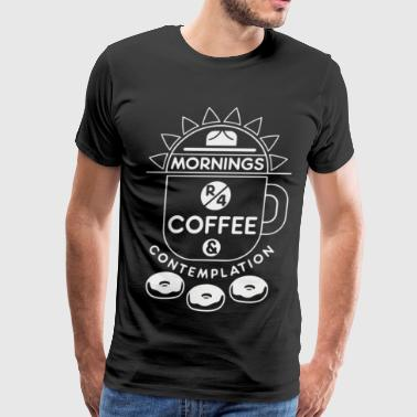 Coffee Contemplation - Men's Premium T-Shirt