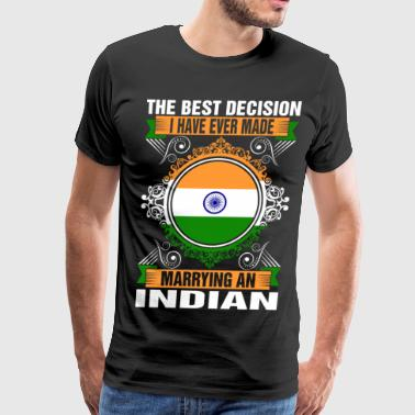 Indian Lady Marrying An Indian - Men's Premium T-Shirt