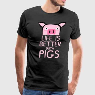 Show Pig Life Is Better With Pigs - Men's Premium T-Shirt