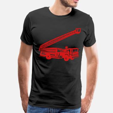 Red Brigades Fire Department - Fire Engine - Firefighter - Men's Premium T-Shirt