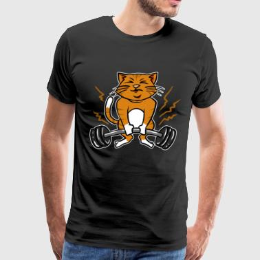 Deadlifts Cat Deadlift Powerlifting Tee Fantastic Cat Gift - Men's Premium T-Shirt