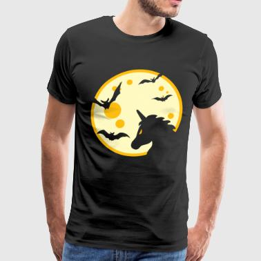 Unicorn head with full moon - Men's Premium T-Shirt