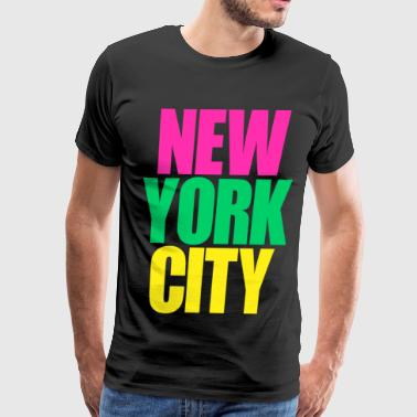 Empire State Of Mind New York City colors - Men's Premium T-Shirt