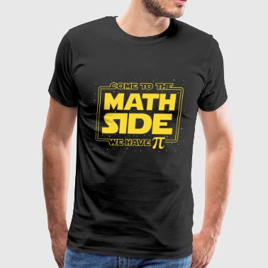 come to the math side we have Pi math t shirts - Men's Premium T-Shirt