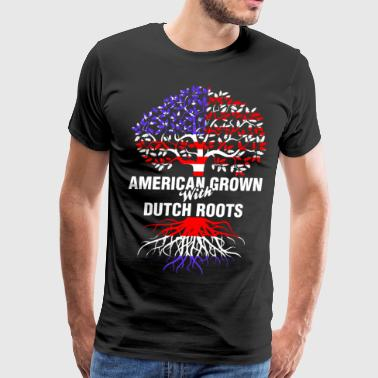 American Grown With Dutch Roots - Men's Premium T-Shirt