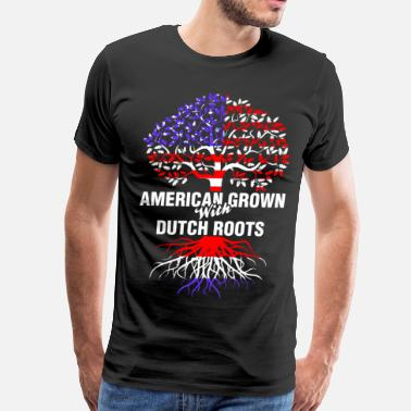 Dutch Roots American Grown With Dutch Roots - Men's Premium T-Shirt