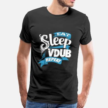 Vdub Vdub - Daily routine eat sleep vdub repeat t - shi - Men's Premium T-Shirt