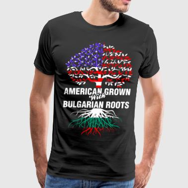 Bulgarian Roots American Grown With Bulgarian Roots - Men's Premium T-Shirt