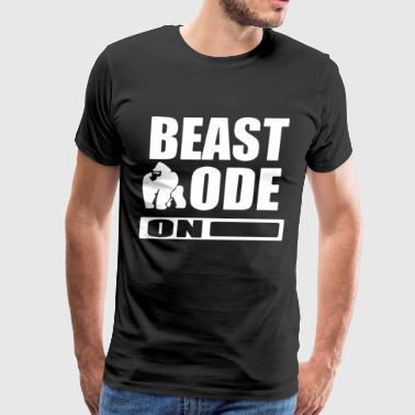 Gym Workout MMA Muscle Training Beat mode on - Men's Premium T-Shirt