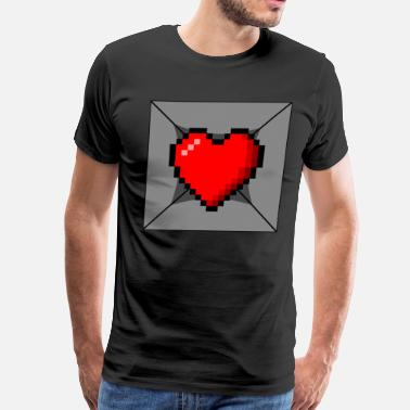 Blood Boxing Heart in a box - Men's Premium T-Shirt