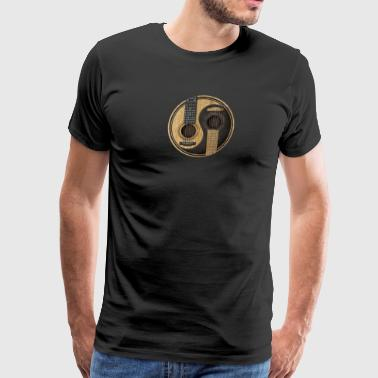 Acoustic Guitars Yin Yang - Men's Premium T-Shirt