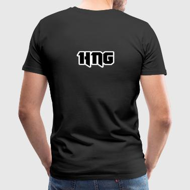 HNG Text logo - Men's Premium T-Shirt