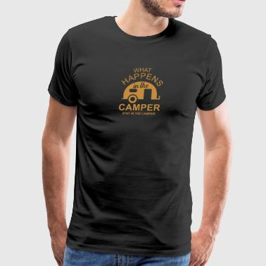 What Happens In Camper Stays In Camper Vintage Sty - Men's Premium T-Shirt