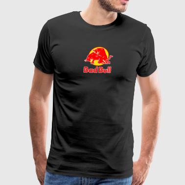 Bad Bull Funny Red Bull Logo Sex Graphic Parody - Men's Premium T-Shirt