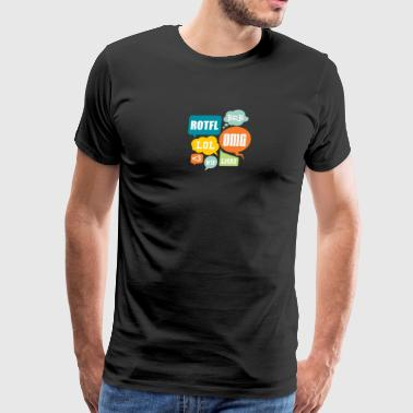 Texting Shortcuts - Men's Premium T-Shirt