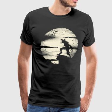 Full Moon Werewolf Werewolf With The Full Moon  - Men's Premium T-Shirt