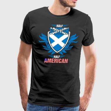Scottish American Flag Half Scottish Half American - Men's Premium T-Shirt