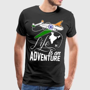 Indian Life Is An Adventure - Men's Premium T-Shirt
