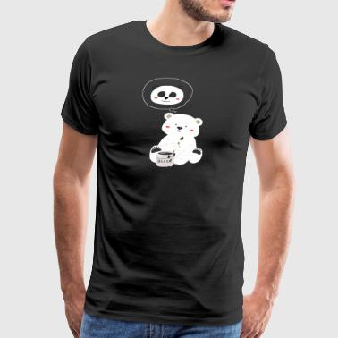Teddy Bear paint to Panda - Men's Premium T-Shirt