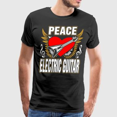 Tailgate Peace Love Electrical Guitar - Men's Premium T-Shirt