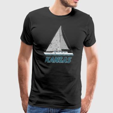 Boat Funny Sailing Kansas Sailing Shirt Boat Captain Shirt Love Boating Shirtpng - Men's Premium T-Shirt