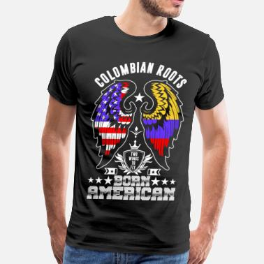 Proud Colombian Roots Colombian Roots Born American - Men's Premium T-Shirt