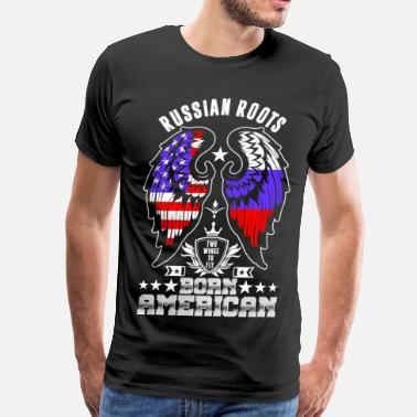 Russian Roots Russian Roots Born American - Men's Premium T-Shirt