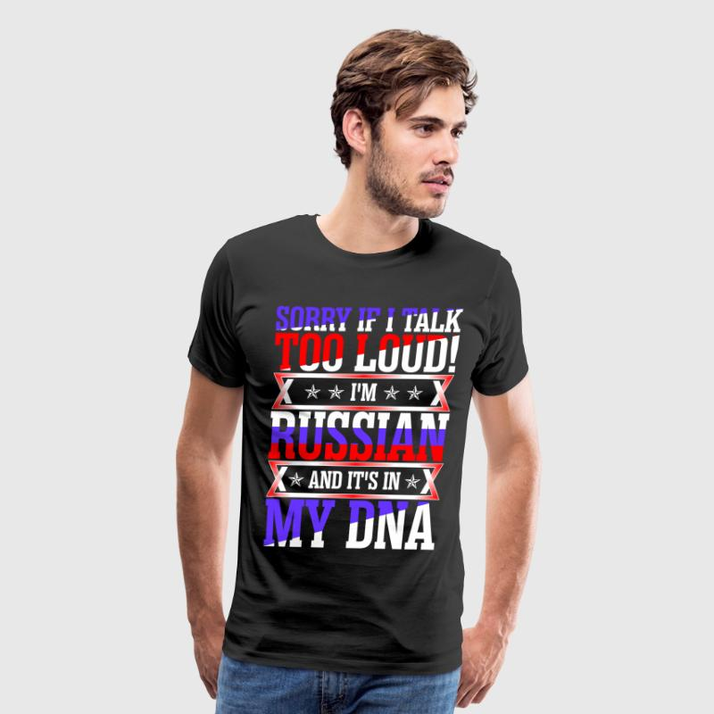 I Am Russian And Its In My DNA - Men's Premium T-Shirt