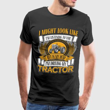 DRIVING MY TRACTOR - Men's Premium T-Shirt