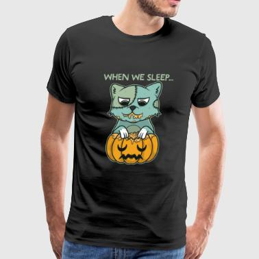 When We Sleep Cat - Men's Premium T-Shirt
