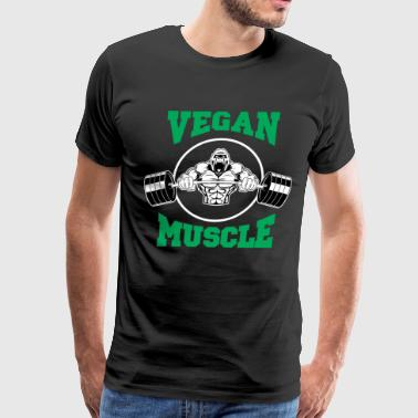 Vegan Muscle Gorilla - Men's Premium T-Shirt