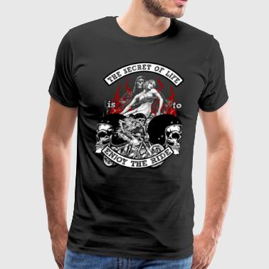 Bikers Bike Life Riders Death Motorcycle Gift - Men's Premium T-Shirt