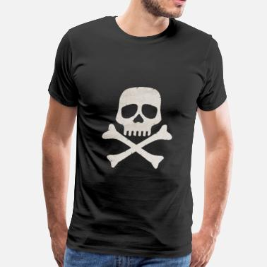 Bearded Skull pirate skull flagPirate skull flag - Men's Premium T-Shirt